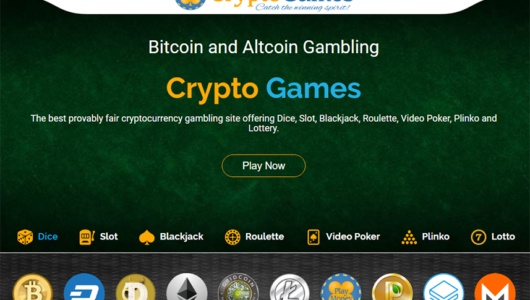 Crypto Games - Front Page
